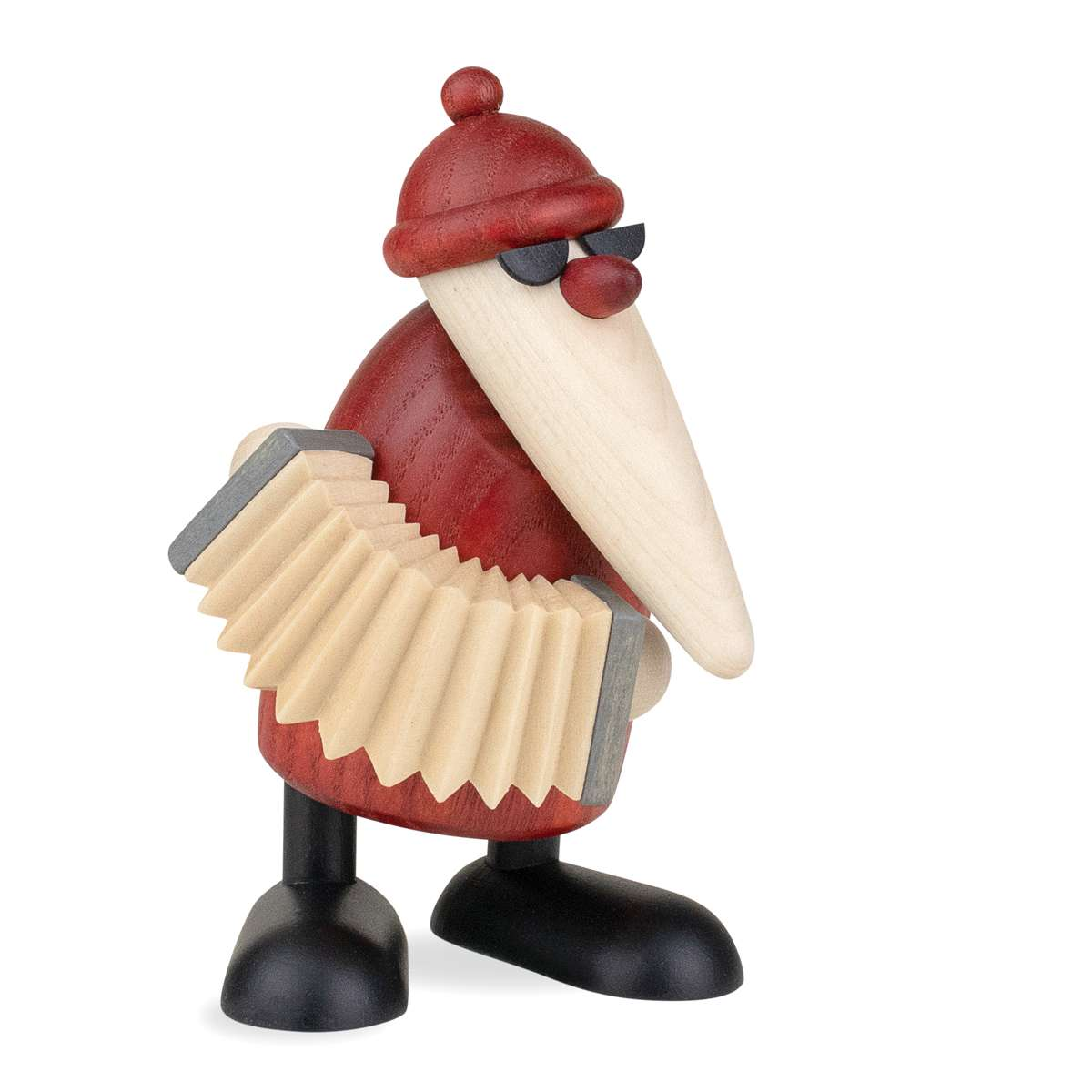 Bjoern Koehler Kunsthandwerk - NEW: Santa Claus playing the accordion, small